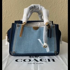 NWT COACH 66933 Denim Colorblock Satchel